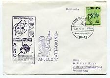 1972 GSOC DFVLR Apollo 17 Tracking AEROS Satellite Germany Space Cover
