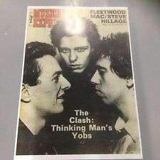 THE CLASH - LARGE A1 POSTER THINKING MAN'S YOBS NME FRONT COVER 1977 PUNK POSTER