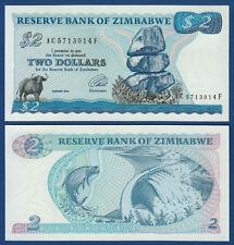 SIMBABWE / ZIMBABWE 2 Dollars 1994  UNC  P.1 c