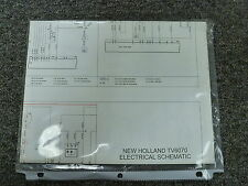 New Holland Model TV6070 Utility Tractor Electrical Schematic Diagram Manual