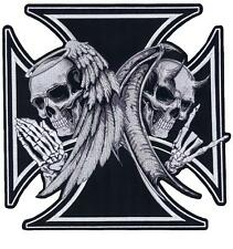 Lethal Threat Motorrad Harley Jacke Aufnäher Aufbügler ANGEL DEVIL XL LT30174