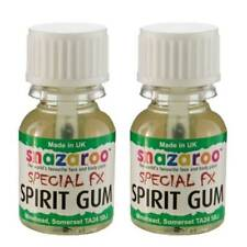 2 x Snazaroo Spirit Gum Adhesive Fake Wounds 10 ml FX Scars Skin Glue Halloween