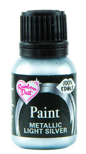 Rainbow Dust Metallic Edible Food Paint Many Colours 25ml- Cake Craft Decorating