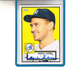"""2011 TOPPS LINEAGE CHARLIE SILVERA 1952 STYLE """"NEW YORK YANKEES"""" AUTOGRAPH AUTO"""
