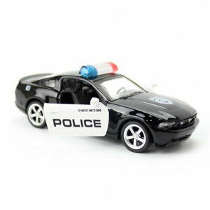 1:43 Ford Mustang Police Model Car Diecast Toy Vehicle Kids Black Collection