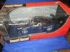 """Toyota Celica  Jada Import Racer 1/18 Scale black  tuners 19"""" Racing Hart wheel"""