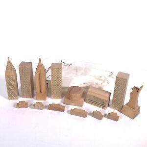 MUJI New York city skyline in a bag - wooden blocks