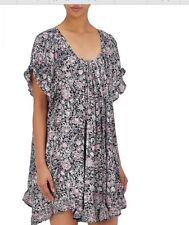 Natalie Martin Marina floral-print Crepe Swing Dress Size S 100% silk