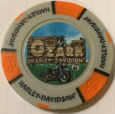 LEBANON, MO Ozark Harley Davidson Poker Chip Gray/Orange Missouri