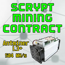 Scrypt Mining Contract (Antminer L3+ 504 Mh/s)