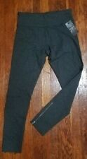 Nwt Womens Calvin Klein Heather Charcoal Active Exercise Zip Ankle Pants S