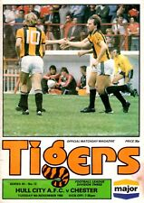 Hull City v Chester, League Divsion 3, November 1980