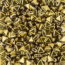 KHEOPS ® PAR PUCA ® Tchèque Triangle Perles 6 mm FULL Dorado 9 g (K94/10)