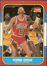 1986 Fleer George Gervin #36 Basketball Card