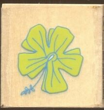 TROPICAL FLOWER  DESIGN Darice Scrappy Cat NEW Wood Mount CRAFT RUBBER STAMP