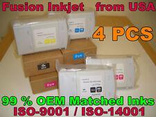 4 cartridges fits HP 80 INK HP Designjet 1050c plus 1055cm plus C4871A HP80
