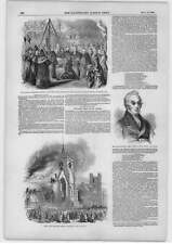 1849 fuego Iglesia de San Miguel Cambridge Henry Millman decano de St Pauls
