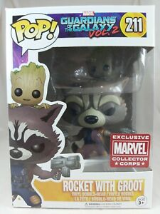 Marvel Funko Pop - Rocket with Groot - Marvel Collector Corps - No. 211