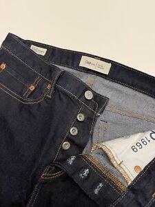 Gap 1969 Skinny Selvedge Jeans Kaihara Japanese Denim 31x32