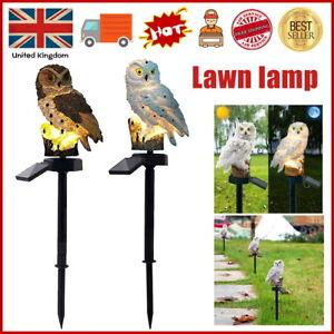 Waterproof Owl Parrot Solar Powered LED Garden Lights Ornament Outdoor Lawn Lamp
