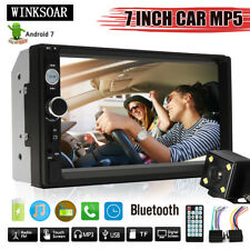 7'' Bluetooth Stereo Touch Screen 2 Din Car MP5 Player Radio FM W/ Backup Camera
