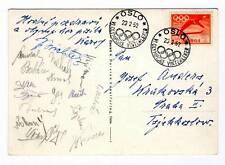 1952 OSLO Winter OLYMPIC Games CZECHOSLOVAKIA HOCKEY Team AUTOGRAPHS 4th place