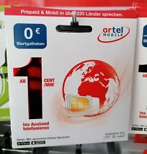 Ortel Mobile 0 Euro Starterpaket SIM Karte