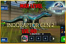 Jurassic WORLD The Game Builder MAX LEVEL INDORAPTOR GEN 2 Android iOS park