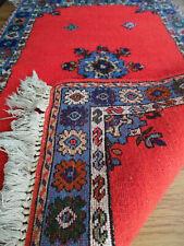 tapis persan / Persian rug gabbeh kashkooli / kashkuli,135X87 cm rouge red blue