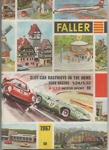 1967 FALLER HO SCALE CATALOG (Slot Cars, Buildings, Airplanes, Railroad)55 Pages