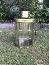 More details for huge vintage brass candle lantern indoor/outdoor garden