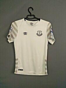 Everton Jersey 2015 2016 Away Boys L Kids White Shirt Football Trikot Umbro ig93