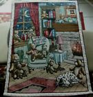 """The Bear Den Wall Hanging Tapestry 26"""" x 36"""" Great Country Display SALE"""