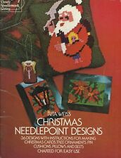 Christmas Needlepoint Designs by Rita Weiss 1975  36 Charted Design Cross Stitch