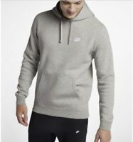 Nike Sportswear Club Fleece Gray 804346-063 Pullover Hoodie Mens Size XL, XXL