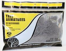 OO HO Scale Woodland 57 Deciduous Tree Armaturues 2in - 3in  TR1121 FNQHobbys