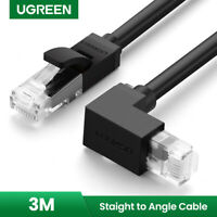 UGREEN Angle Network Cable 3m Cat6 Ethernet Lead 1Gbps RJ45 Patch Cord Lan Cable