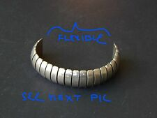 Cuff Bracelet Mexico 925 Tm-72 Vintage Post Modern Sterling Silver Flexible