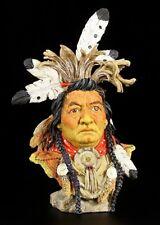 Indian Bust Kalispel - Veronese Figurine Western Deco