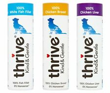 Pet Project Thrive Dog Treats 100% Real Meat Freeze Dried Natural Case 12 Tubes