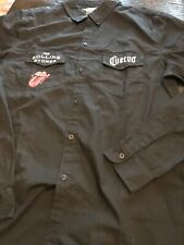 THE ROLLING STONES CUERVO Black 2 POCKET BUTTON FRONT LS SHIRT SIZE M