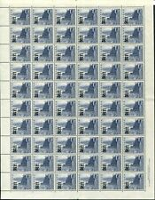 1960 (SG.37) 1/1 on 3½d Warders Tower, complete sheet (60), Imprint. Superb MUH
