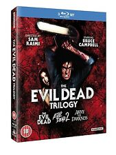 THE EVIL DEAD TRILOGY 1 2 3 BLU-RAY SET 3 DISCS ARMY OF DARKNESS BRUCE CAMPBELL