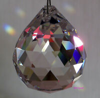 Hanging Crystal Sun catcher Ball x2 Feng Shui Rainbow Prism Mobile wind Chime