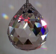 Colgante bola de cristal de Sun Catcher Feng Shui Arco Iris Prisma móvil carillón de viento 50 mm