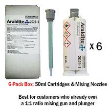 Araldite 2021 Toughened 5-Min MMA Multi-Use Adhesive-50ml 6-Pack