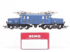 HOm Gauge Bemo 1255 142 RhB Ge 6/6 I Electric Loco #412 Glacier Express 75th Yr