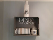 Shabby Chic Shelf Bathroom Laundry Room Hand Painted Apple Crate