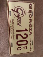 Rare Gretsch Sound Guitar & Drums Georgia License Plate Since 1883 Sealed!!!