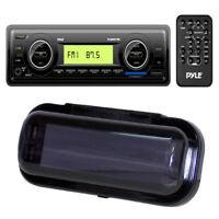 Pyle PLMR87WB Marine AM/FM/WB Radio USB/SD Stereo Player Receiver & Radio Shield